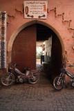 Bikes Parked in Doorway