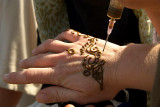Applying Henna