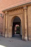 Decorated Door through to Courtyard