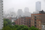 Morning Fog and Smoke over Downtown Manhattan Financial Center