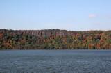 Fall - NJ Palisades & Hudson River from Riverdale, NY Train Station