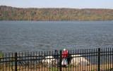 Fishing - NJ Palisades & Hudson River from Riverdale, NY Train Station