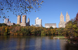 Fall Foliage, Central Park West Skyline & the Lake from the Ramble