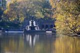Bethesda Fountain from a Ramble Path