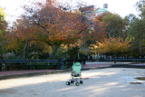 Doll Stroller in the Bocce Ball Court