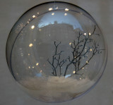 Glass Ball - Winter Scence with SOHO Skyline Reflection