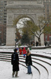 Snow Flurries at the Arch