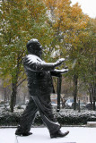 Snow, Pear Trees & Mayor LaGuardia Statue