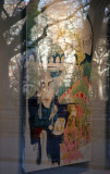 NYU Gallery Painting from Window with Washington Square Park Arch Reflection