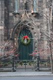 Presbyterian Church - Hawthorne Tree Berries & Christmas Wreath