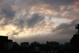 Breaking Storm at Sunset - West Greenwich Village