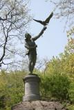 The Falconer Statue near CPW & Strawberry Fields