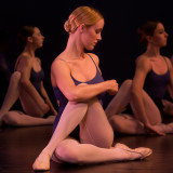 Emily Corgan with Anna Edens and Anne Souder class stretch