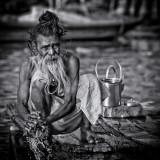 Sadhu at the river Ganges