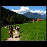 Walking in the wonderful mountains ...
