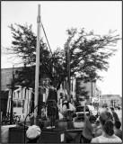 the launching
