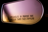 Harley mirror message