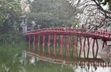 The Huc Bridge, Hoan Kiem lake in Hanoi