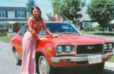 Her first car - a much loved Mazda 808