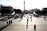 Macro people in Trafalgar Square