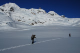 Crossing Bishop Glacier
