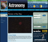 C19 The Cocoon Nebula Picture of the day in Astronomy Magazine Jan. 22, 2010