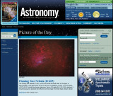 IC405 The Flaming Star Nebula Picture of the day in Astronomy Magazine Dec. 31, 2009