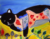 Sooty the take it easy Folky cat