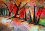 Autumn in The Woods Watercolour Painting