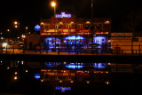 The Millpond in Stalybridge with Christmas Lights