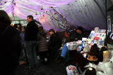 Inside one of The Tunnels at The Christmas Fair