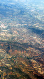 View From Plane going over Spains Sierra Nevada