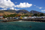 Lahaina harbor from the water
