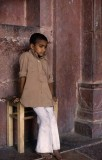Young Boy - Red Palace, India