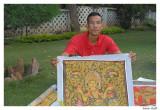 Artiste peintre sur soie