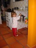 Bagunçando na cozinha
