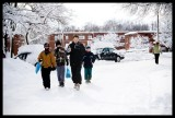 0051.My son Hunter and friends walking back from gas station with snacks...