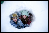 0095.Meanwhile, the kids made a snow tunnel, next to our house!