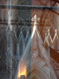 Reflections Of St. Patricks Cathedral From Rockerfeller Center.JPG