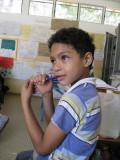 Khalil teaching at the Bilingual School