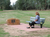 Sarah's Memorial bench at Dubbo NSW
