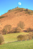 Moon over Dinas Bran