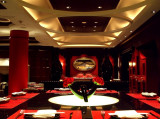 Sexy Red and Black Restaurant at the Wynn