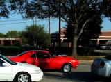 Orange Camaro at the Intersection