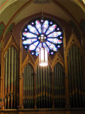 Rose Window and Organ Pipes