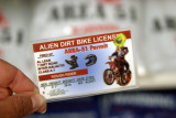 Driver license for Aliens