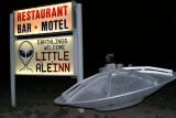 A UFO arriving in Rachel