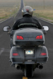 The Gold Wing prototype from behind