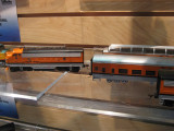 A Bachmann F-unit and a D&RGW painted Chinese coach