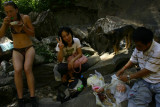 Lunch at waterfall